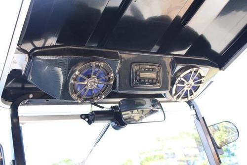 Infinity Bluetooth Golf Cart Radio and Carbon Fiber Overhead Console