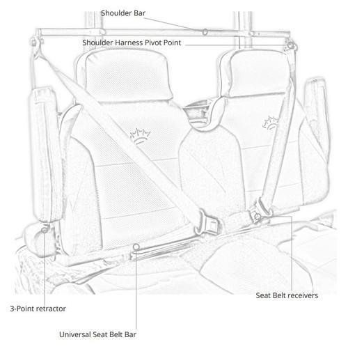 Universal Golf Cart Three Point Front Seat Belt