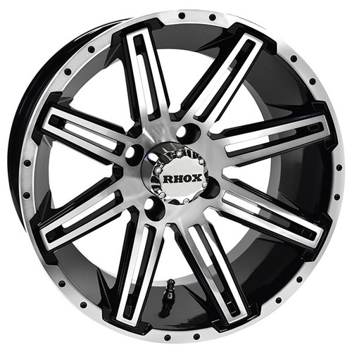 RHOX RX275, Machined Gloss Black, 14x7, ET-25