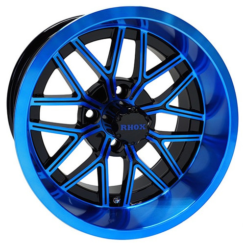 RHOX RX281, Gloss Black with Blue, 14x7 ET-25