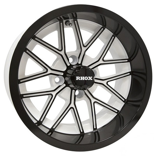 RHOX RX281, White with Gloss Black, 14x7 ET-25