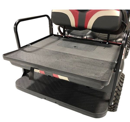 GTW MACH3 Rear Flip Seat for E-Z-Go TXT - Tan (Years 1994.5-Up) offers a optional built in storage box