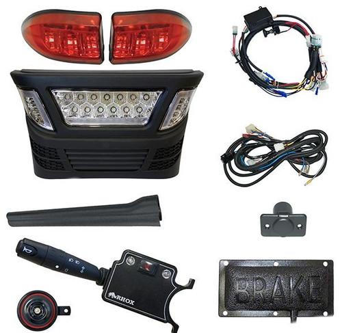 LED Light Bar Kit, Club Car Precedent, Electric 08.5+, 12-48V, (Deluxe Turn Signal, Pedal Mount)