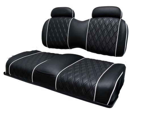 Exclusive Series Two Tone Bench Back with Head Rest REAR SEAT Assembly with Standard Vinyl Fabrics+