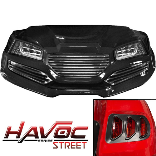 Automotive-style flush mount LED headlights and taillights