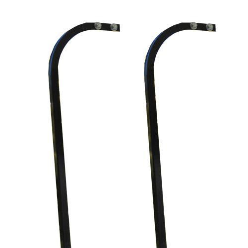 Steel Frame Rear Seat  Extended Top Aluminum Candy Cane Struts