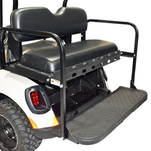 GTW MACH3 Rear Flip Seat for E-Z-Go TXT - Black (Years 1994.5-Up)