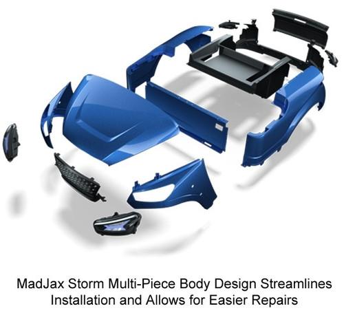 Madjax Storm Body Kit for EZGO TXT 94+  Silver Metallic
