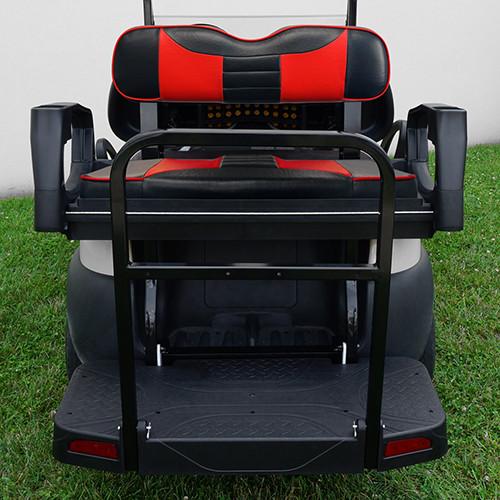 RHOX Rhino Aluminum Seat Kit, Rally Black/Red, Club Car Tempo, Precedent 04+
