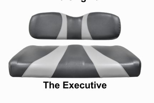 The Executive Two Tone Golf Cart Seat Cover Set