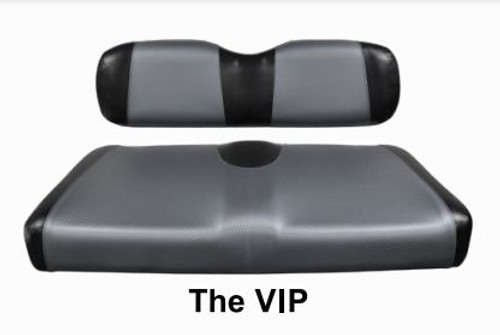 The VIP Two Tone Golf Cart Seat Cover Set