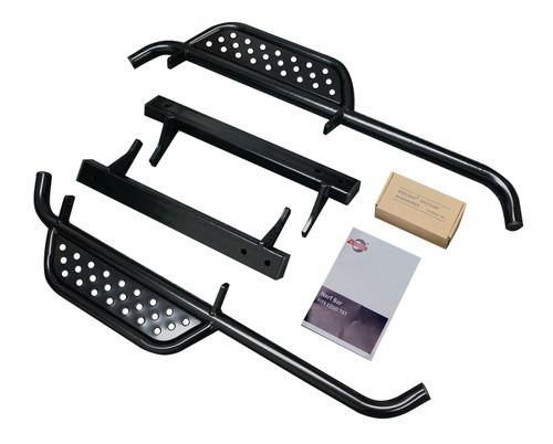 Nerf Bar Set Powder Coat Black with Extended Step for EZGO TXT 96-13
