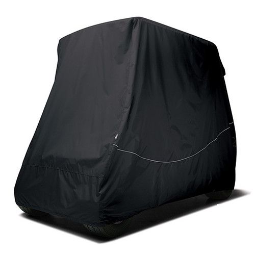 """Storage Cover, Golf Cart with  80"""" Top and Rear Seat , Black"""