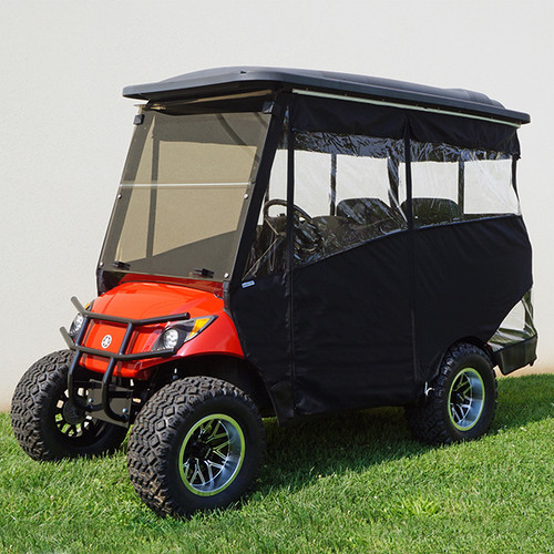 "Odyssey Enclosure, Black, for RHOX 88"" Extended Top Club Car Precedent"