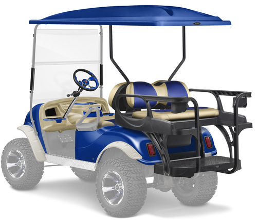 Doubletake complete Spartan Golf Cart Refurbish Kit with MAX6 HELIX Rear Seat