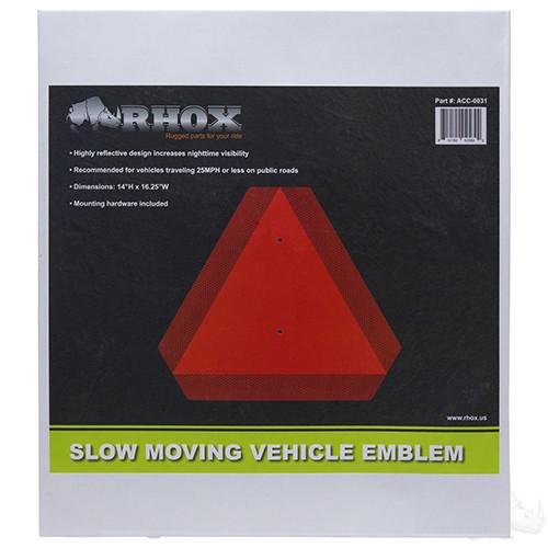 Slow Moving Vehicle Emblem, Aluminum