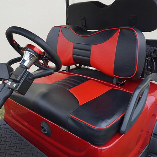 RHOX Front Seat Cushion Set, Rally Black/Red, Yamaha Drive