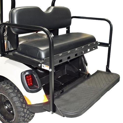 GTW MACH3 Rear Flip Seat For Club Car DS - Black (No Door)