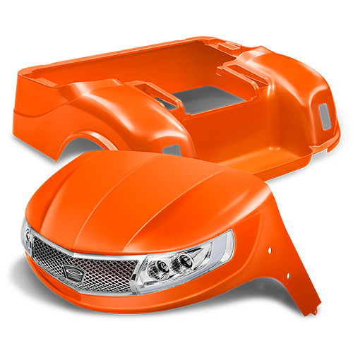Doubletake Phoenix Body Kit for EZ-GO TXT 96+ in Orange w/ Deluxe LED Light Kit