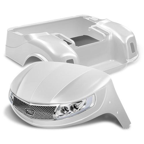 Doubletake Phoenix Body Kit for EZ-GO TXT 96+ in White Pearl w/ Deluxe LED Light Kit