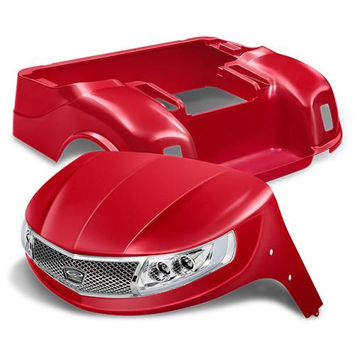 Doubletake Phoenix Body Kit for EZ-GO TXT 96+ in Red w/ Deluxe LED Light Kit