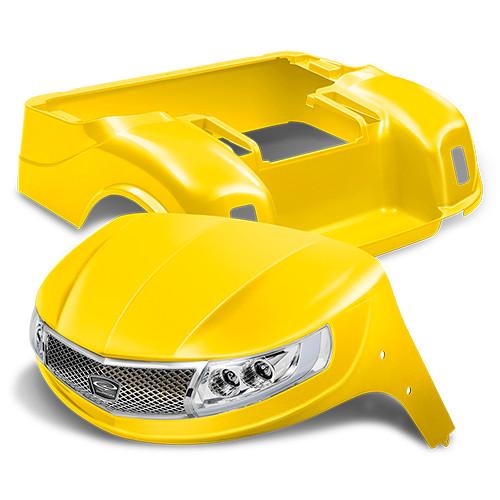 Doubletake Phoenix Body Kit for EZ-GO TXT 96+ in Yellow w/ Deluxe LED Light Kit