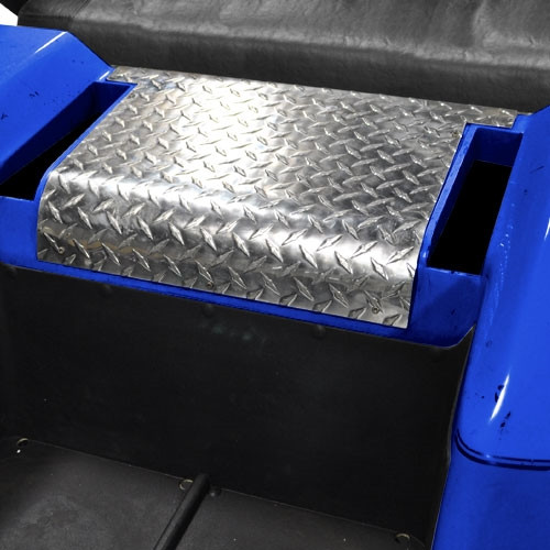 Aluminum diamond plate access panel cover for the EZ-GO TXT 96-13