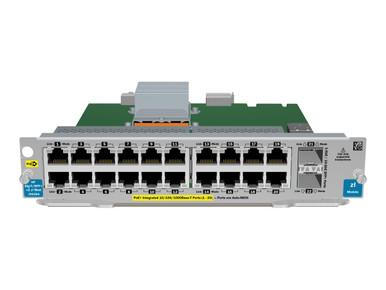 J9536A -- HPE - Expansion module - Gigabit Ethernet (PoE+) x 20 + 10 Gigabit SFP+ x 2 + 2 x SFP+ - f -- New