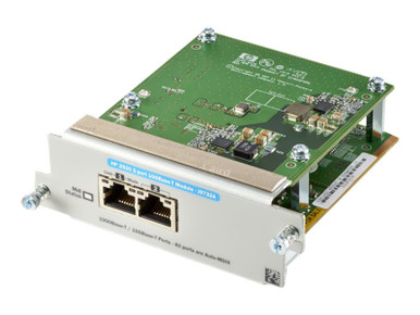 J9732A -- HPE - Expansion module - 10Gb Ethernet x 2 - for HPE Aruba 2920-24G, 2920-24G-PoE+, 2920-4 -- New