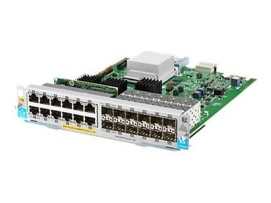 J9989A -- HPE - Expansion module - Gigabit Ethernet (PoE+) x 12 + Gigabit SFP x 12 - for HPE Aruba 5 -- New
