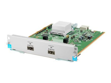 J9996A -- HPE - Expansion module - 40 Gigabit QSFP+ x 2 - for HPE Aruba 5406R, 5406R 16, 5406R 44, 5 -- New