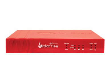 WGT16001-WW -- WatchGuard Firebox T15-W - Security appliance - with 1 year Standard Support - 3 ports - G -- New