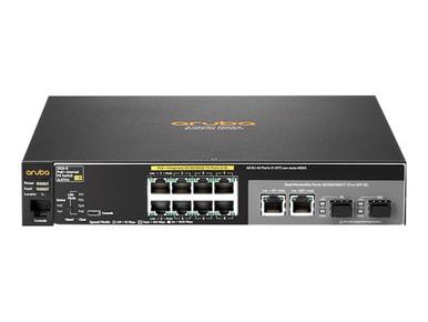 JL070A#ABA -- HPE Aruba 2530-8-PoE+ Internal Power Supply - Switch - managed - 8 x 10/100 (PoE+) + 2 x c -- New