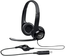 981-000014 -- Logitech USB Headset H390 - Headset - on-ear - wired - USB -- New