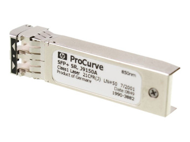 J9150A -- HPE - SFP+ transceiver module - 10 GigE - 10GBase-SR - LC/UPC multi-mode - up to 984 ft -  -- New