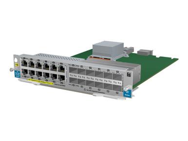 J9637A -- HPE Gig-T PoE+/12-port SFP v2 zl - Expansion module - Gigabit Ethernet x 12 + 12 x SFP - f -- New