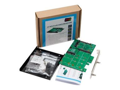 SY-ADA40103 -- 3.5IN SATA III TO M.2 / MSATA SSD RAID A -- New