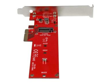 PEX4M2E1 -- StarTech.com M2 PCIe SSD Adapter - x4 PCIe 3.0 NVMe / AHCI / NGFF / M-Key - Low Profile an -- New