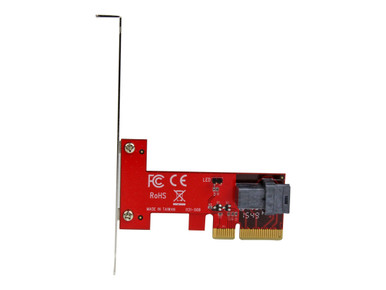 PEX4SFF8643 -- StarTech.com x4 PCI Express to SFF-8643 Adapter for PCIe NVMe U.2 SSD - Interface adapter  -- New