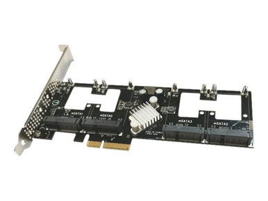 AD4MSPX2-A           -- AD4MSPX2-A QUAD PCIE MSATA SSD                                      -- New
