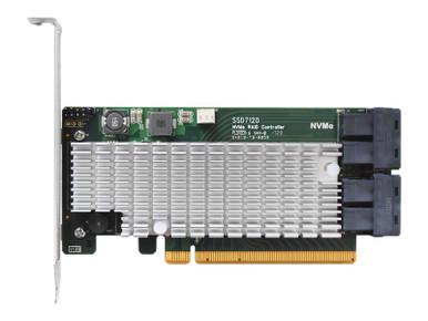 SSD7120              -- 4XU.2 PCIE 3.0X16 NVME RAID CNT 4X DEDICATED 32GBPS U.2 PORTS       -- New