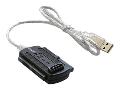 SIDE-0002            -- 2.5/3.5IN SATA/IDE TO USB 2.0   ADAPTER CABLE 2A AC W/AUTO BACKUP   -- New
