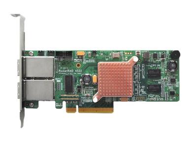 RR4522SGL            -- 8PORT PCIE2 X8  H/W EX RAID HBA H/W RAID 0 1 5 6 10 50 JBOD         -- New