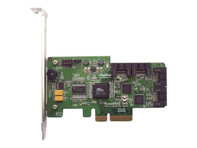 RR640L               -- 4PORT IN 6GB/S SATA RAID PCIE   4X SATA PCIE 2.0 X4 RAID HBA        -- New