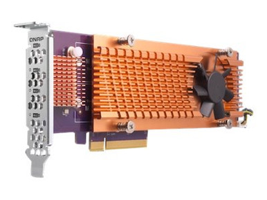 QM2-4S-240 -- QNAP QM2-4S-240 - Storage controller - SATA low profile - PCIe 2.0 x4 - for QNAP TS-1273,  -- New