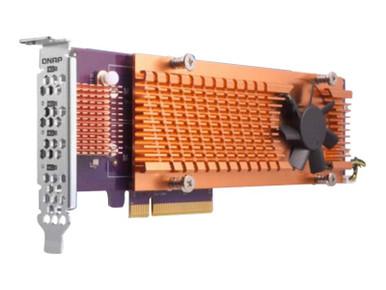 QM2-4P-342 -- QNAP QM2-4P-342 - Storage controller - PCIe 3.0 low profile - PCIe 3.0 x4 - for QNAP TS-12 -- New