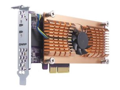 QM2-2P -- QNAP QM2-2P - Storage controller - M.2 - PCIe low profile - PCIe 2.0 x4 - for VioStor VS-2 -- New