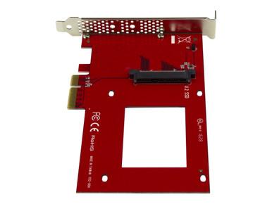 "PEX4SFF8639 -- StarTech.com U.2 to PCIe Adapter for 2.5"" U.2 NVMe SSD - SFF-8639 - x4 PCI Express 3.0 - I -- New"