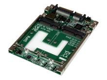 "25SAT22MSAT -- StarTech.com Dual mSATA SSD to 2.5"" SATA RAID Adapter Converter - 2x mSATA SSD to 2.5in SA -- New"