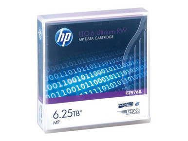 C7976A -- HPE Ultrium RW Data Cartridge - LTO Ultrium 6 6.25 TB - purple - for StoreEver 6250, LTO-6 -- New